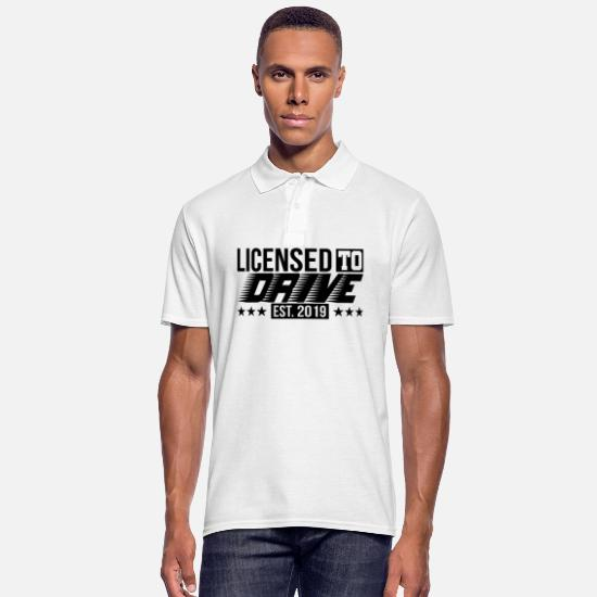 Gift Idea Polo Shirts - Driving test passed driving license 2019 gift - Men's Polo Shirt white