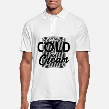 Chocolate Never too cold for ice cream. Foodie Black Funny - Men's Polo Shirt
