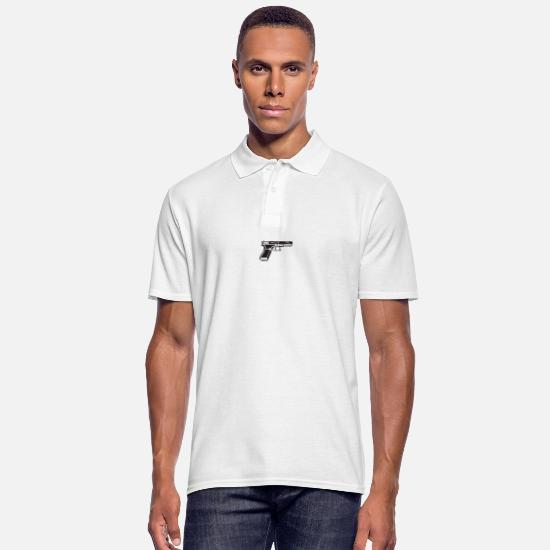3d Polo Shirts - pistol - Men's Polo Shirt white