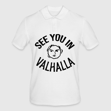 See You in Valhalla face - Men's Polo Shirt