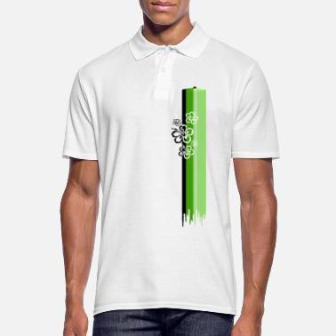 Hibiscus green hibiscus - Men's Polo Shirt