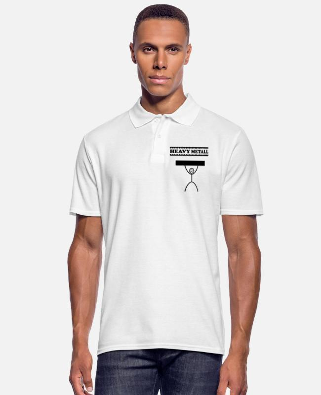 Heavy Metal Camisetas polo - Heavy metal / heavy metal / heavy metal - Camiseta polo hombre blanco