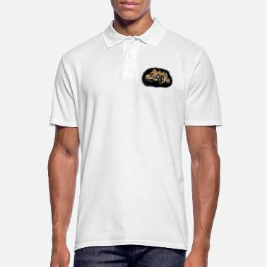 Logged Ducklings on a log - Men's Polo Shirt