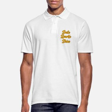 Smile Zest for life motivation saying Smile Sparkle Shine - Men's Polo Shirt