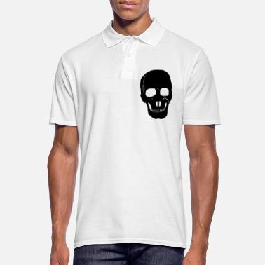 Skinhead Skull, skeleton, Skrull, punk rocker, metal, - Men's Polo Shirt
