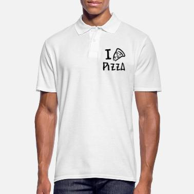 Pizza Drawing i love pizza! - Männer Poloshirt