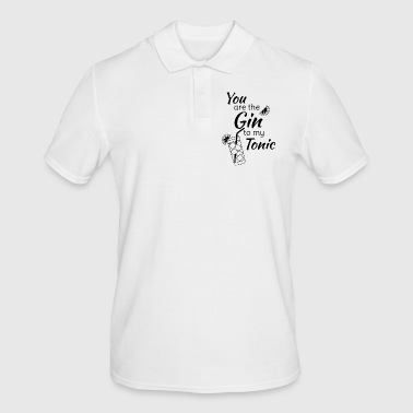 Gin Tonic Spruch You are the gin to my tonic schw - Männer Poloshirt