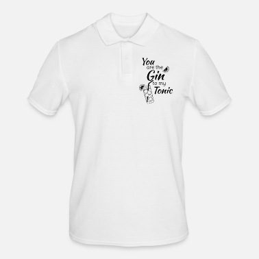 Feiern Gin Tonic Spruch You are the gin to my tonic schw - Männer Poloshirt