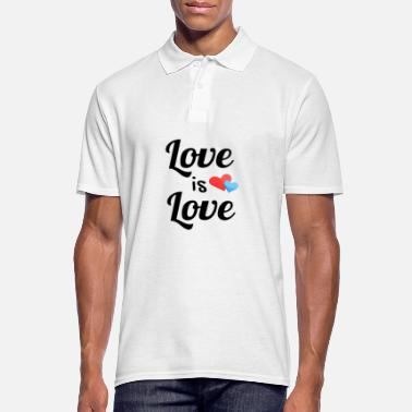 Christopher Street Day Love is love - Männer Poloshirt