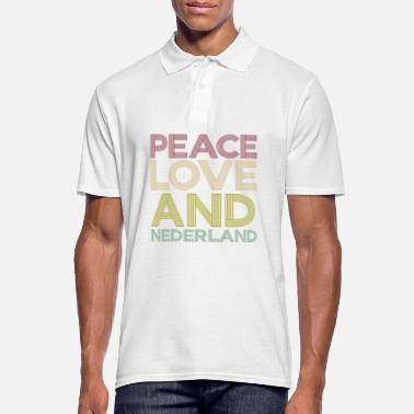 Netherlands Peace Love and Nederland Gift - Men's Polo Shirt