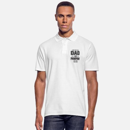 Dad Polo Shirts - I Have Two Titles Dad and Pawpaw and I Rock - Men's Polo Shirt white