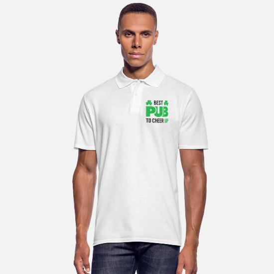 Good Mood Polo Shirts - Best pub for good mood for St Patricks Day - Men's Polo Shirt white