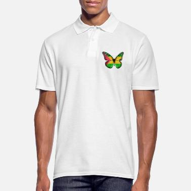 Root Butterfly Flag Of Sao Tome And Principe - Men's Polo Shirt