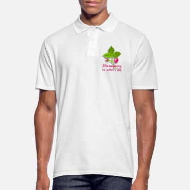 Banana Strawberry is what I like - fruit - Men's Polo Shirt