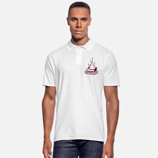 Expression Polo Shirts - lendemain fete caca fouette mouche expression 1 2 - Men's Polo Shirt white