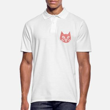 Form Binary Wordcloud in animal cat alt Form (red) - Männer Poloshirt