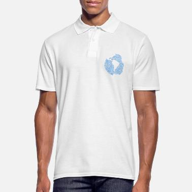 Form Binary word cloud in glb sa form (blue) - Men's Polo Shirt