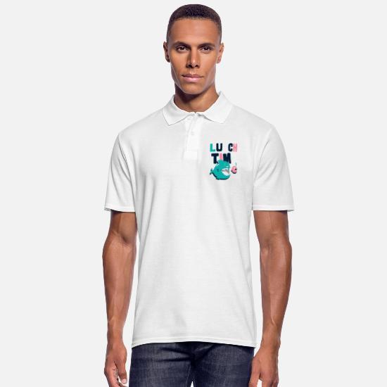 Crook Polo Shirts - Fish lunch - Men's Polo Shirt white