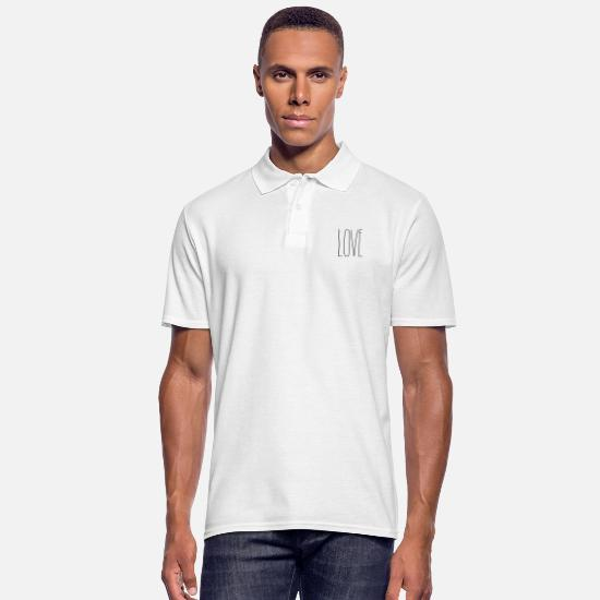 Love Polo Shirts - Love - Men's Polo Shirt white