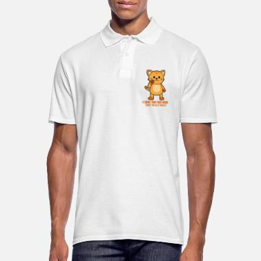 I Love You This Much I LOVE YOU THIS MUCH Katze - Männer Poloshirt
