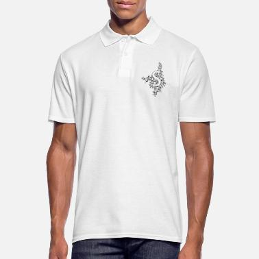 Initial Initial S, calligraphy, ornament - Men's Polo Shirt