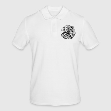Vintage flowers sketch gift - Men's Polo Shirt