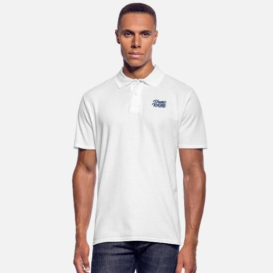 Gift Poloshirts - Drones race - Mannen poloshirt wit