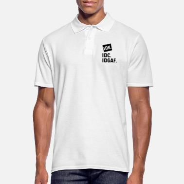 Guys DK IDC IDGAF - Gift Funny I Don't Care - Men's Polo Shirt