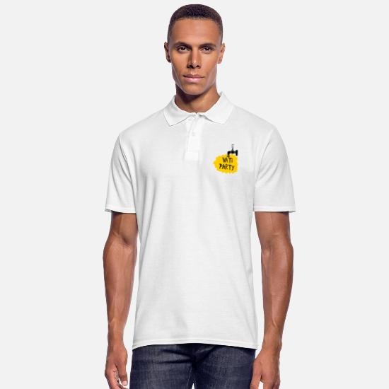 Drukrejse Poloshirts - Daddy Party (Fars Dag) - Poloshirt mænd hvid