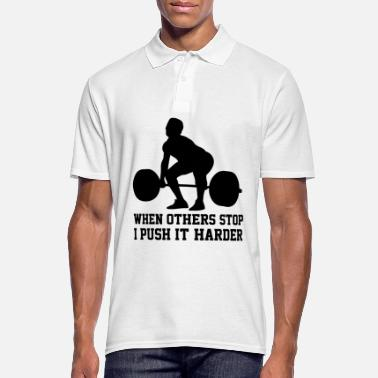 Fitness shirt muscle favorite sport gift - Men's Polo Shirt