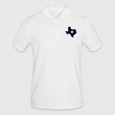 TEXAS State Outline Star - Men's Polo Shirt