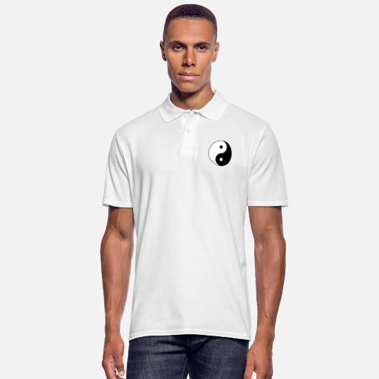 Ying Polos - Collection Ying-Yang - Polo Homme blanc