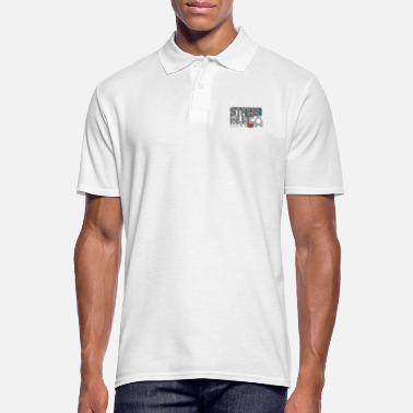 Turn On Turn off stress - turn on music - Men's Polo Shirt