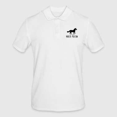 Horse person horses horse racing gift idea - Men's Polo Shirt