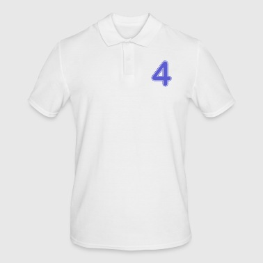 Number Number - Shirt number - 4 - Men's Polo Shirt