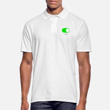 Geek ON - Green.png - Polo Homme