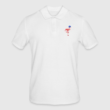 US flamingo - Men's Polo Shirt