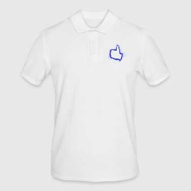 I like blue hand thumb gift - Men's Polo Shirt
