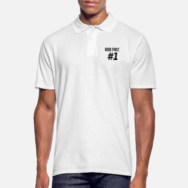 Christian Clothing God First Christian Jesus Gift - Men's Polo Shirt