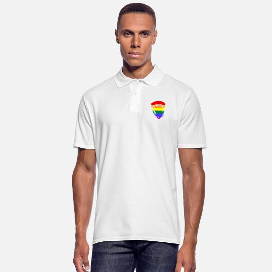 Gay Pride Polo Shirts - Pride Rainbow LGBTQ - Men's Polo Shirt white
