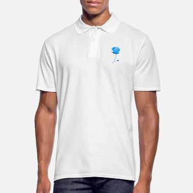 �❤️✦°Romantic Rose-Timeless Rose Line Art - Men's Polo Shirt