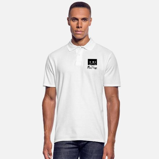 Music Polo Shirts - mix tape - Men's Polo Shirt white