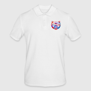 tatouage tribal d'ours (couleur) - Polo Homme