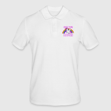 Obey Your Master - Unicorn Rainbow Heavy Metal - Polo hombre