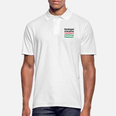 Wale WALES / UK - VILLAGE WITH THE LONGEST NAME - Men's Polo Shirt