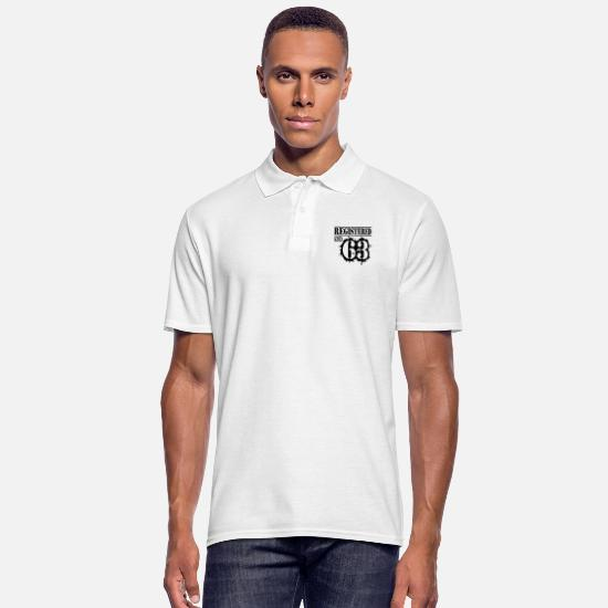 Legend Polo Shirts - Registered No 63 - 53rd Birthday - Men's Polo Shirt white