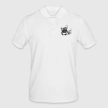 Old man smoking pipe - Men's Polo Shirt