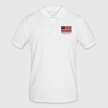 flag of the united states - Men's Polo Shirt