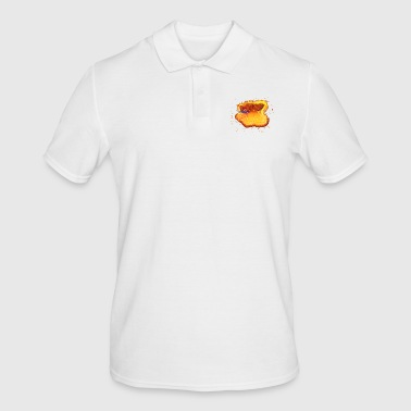 Young male burning - Men's Polo Shirt