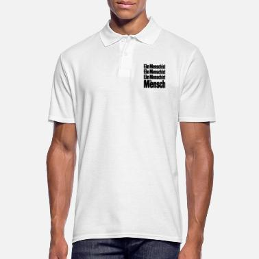 Human A human is a human being is a human - Men's Polo Shirt